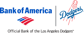 Dodgers/Bank of America logo