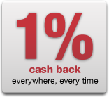 1% cash back everywhere, every time
