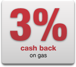 3% cash back on gas