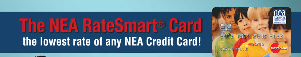 The NEA RateSmart® Card - the lowest rate of any NEA Credit Card!